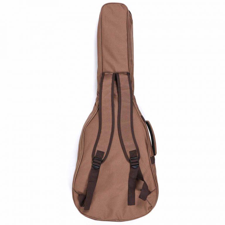 กระเป๋ากีต้าร์ Gusta QB-MB- สีน้ำตาล ขนาดข้างใน12MM back ขายราคาพิเศษ