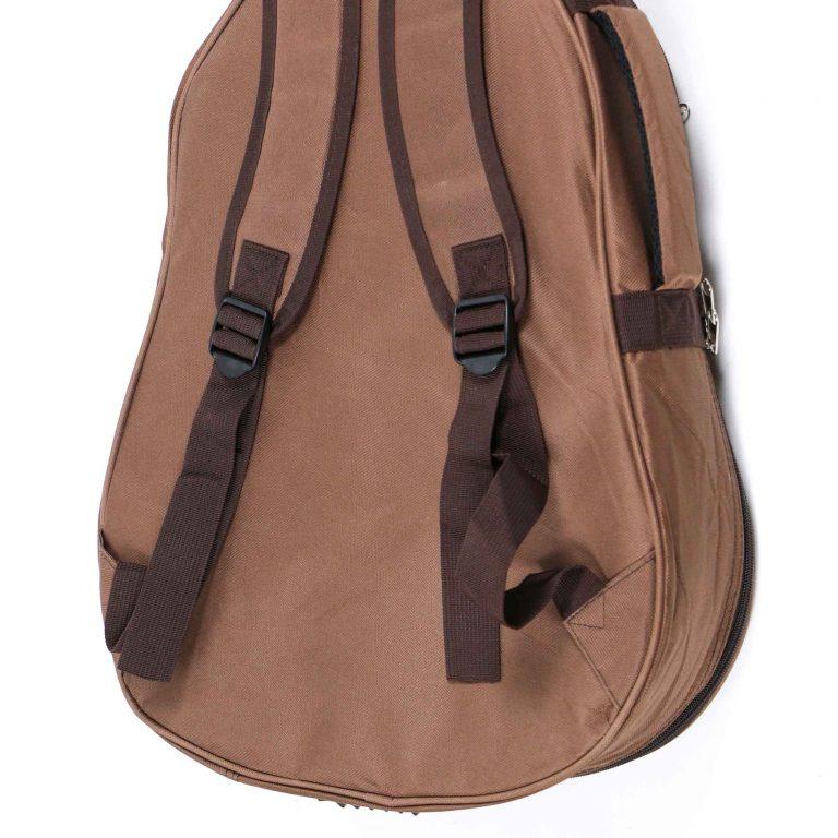 กระเป๋ากีต้าร์ Gusta QB-MB- สีน้ำตาล ขนาดข้างใน12MM back zoom ขายราคาพิเศษ