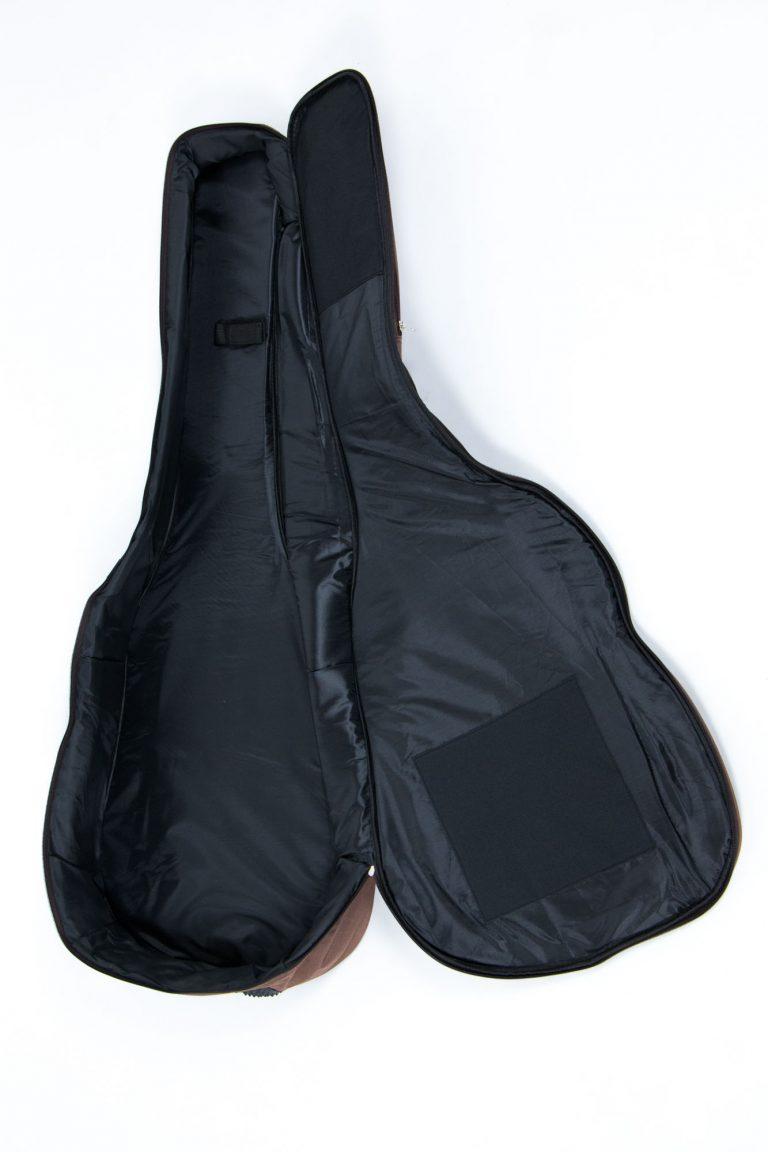 กระเป๋ากีต้าร์41 นิ้ว Gusta QB-MB- สีน้ำตาล ข้างใน ขายราคาพิเศษ