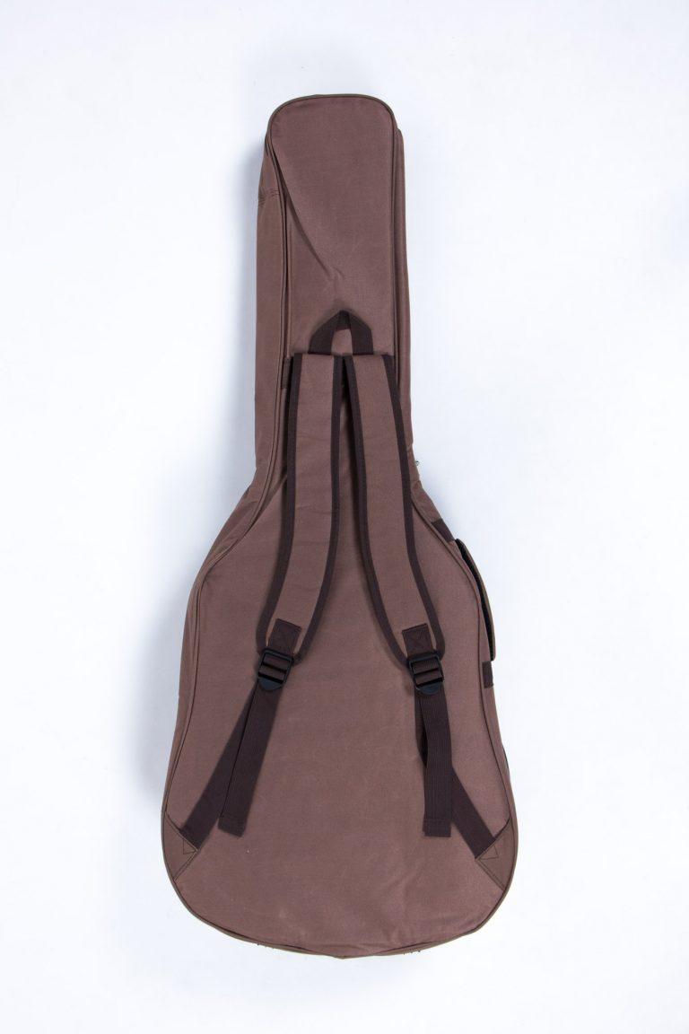กระเป๋ากีต้าร์41 นิ้ว Gusta QB-MB- สีน้ำตาล ด้านหลังหน้าตรง ขายราคาพิเศษ