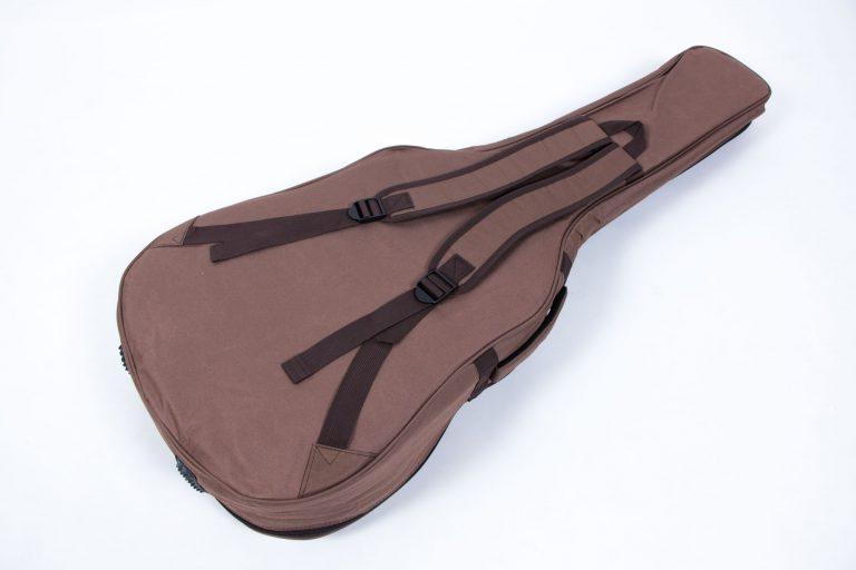 กระเป๋ากีต้าร์41 นิ้ว Gusta QB-MB- สีน้ำตาล ด้านหลัง ขายราคาพิเศษ