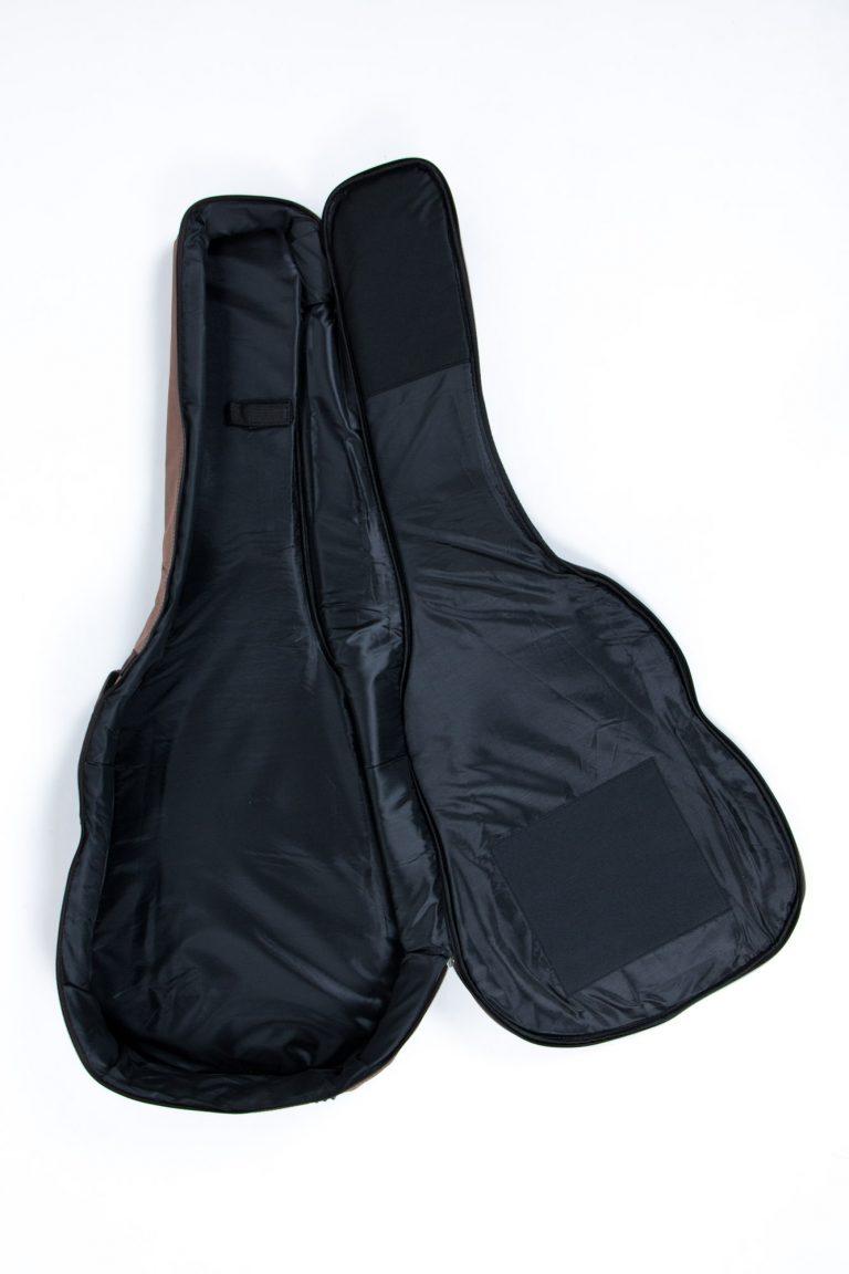 กระเป๋ากีต้าร์41 นิ้ว Gusta QB-MB- สีน้ำตาล เปิดกระเป๋า ขายราคาพิเศษ