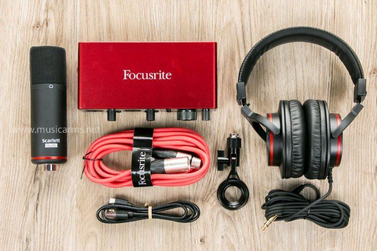 ชุดอินเตอร์เฟส Focusrite Scarlett 2i2 Studio 3rd Gen ขายราคาพิเศษ