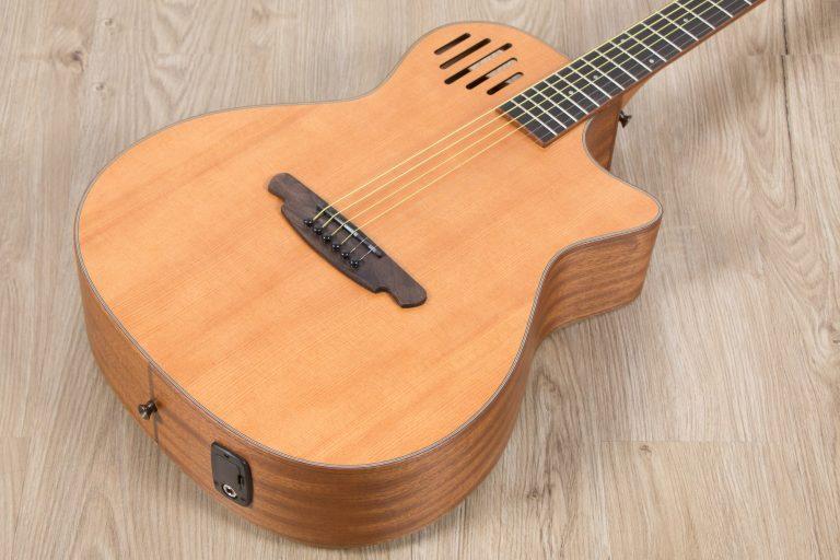 โปร่งไฟฟ้า Gusta OM-JE II N 40Acoustic guitar center ขายราคาพิเศษ