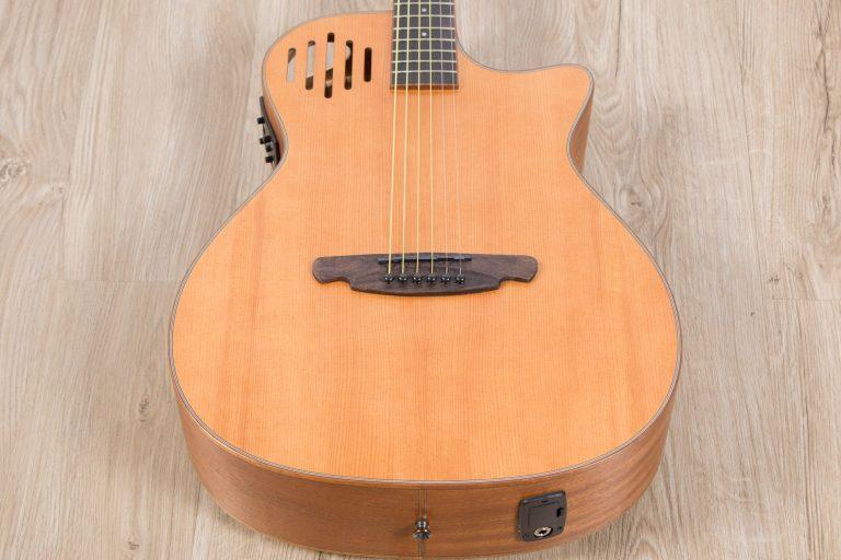 โปร่งไฟฟ้า Gusta OM-JE II N 40Acoustic guitar center zoom ขายราคาพิเศษ