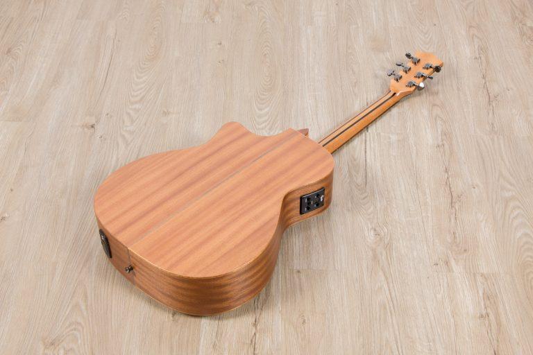 โปร่งไฟฟ้า Gusta OM-JE II N 40Acoustic guitar full body back ขายราคาพิเศษ