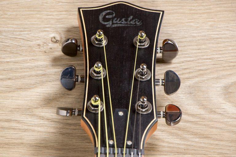โปร่งไฟฟ้า Gusta OM-JE II N 40Acoustic guitar head ขายราคาพิเศษ