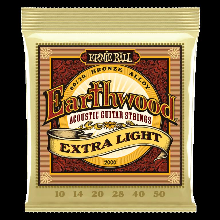 Ernie Ball Earthwood 80/20 Bronze Extra Light P02006 ขายราคาพิเศษ