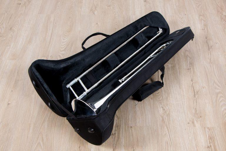 ทรอมโบน Mraching Trombone coleman standard trombone Silver กระเป๋า ขายราคาพิเศษ