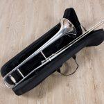 ทรอมโบน Mraching Trombone coleman standard trombone Silver เต็มตัวมีกระเป๋า ลดราคาพิเศษ