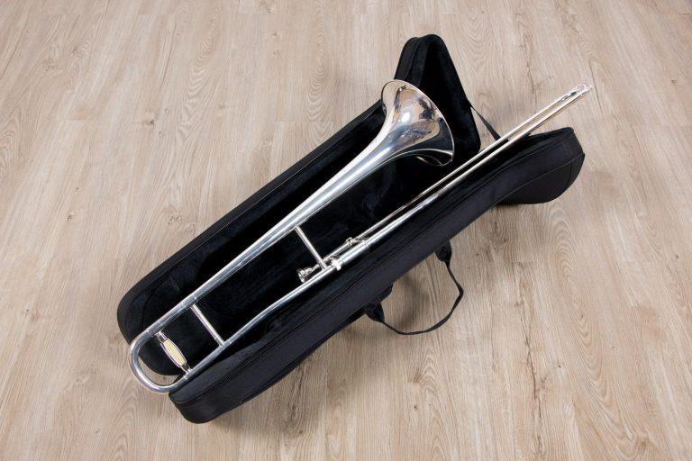 ทรอมโบน Mraching Trombone coleman standard trombone Silver เต็มตัวมีกระเป๋า ขายราคาพิเศษ
