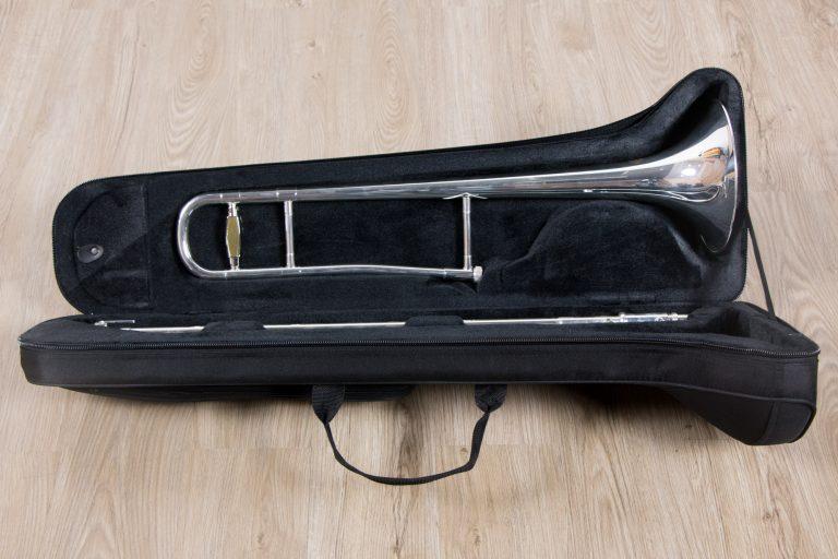 ทรอมโบน Mraching Trombone coleman standard trombone Silver เต็มตัว ขายราคาพิเศษ