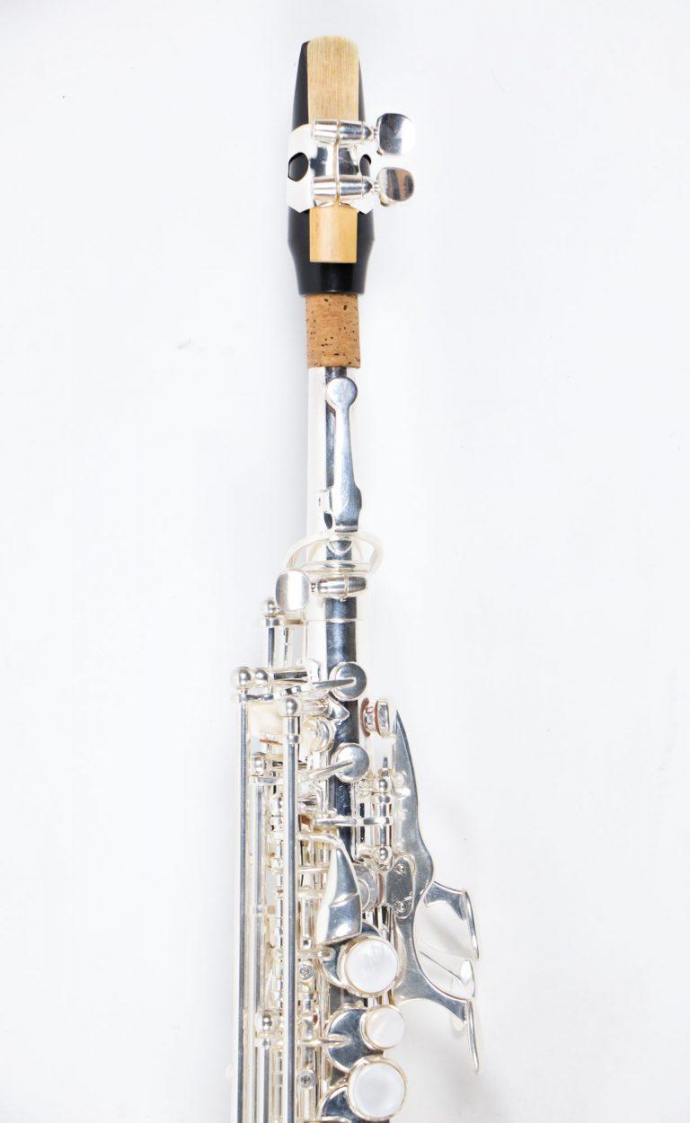 แซคโซโฟน Saxophone Soprano Coleman Standard Silver ที่เป่า ขายราคาพิเศษ