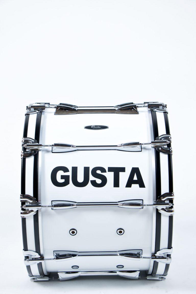 กลองใหญ่ Gusta 20 นิ้วพร้อมชุดสะพาย (PRO2014) ด้านข้างเต็มตัว ขายราคาพิเศษ