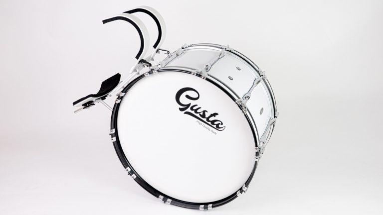 กลองใหญ่มาร์ชชิ่ง Gusta 26นิ้ว 10หลัก Marching Bass Drum พร้อมชุดสะพายเกาะอก ( เต็มชุดตัวเต็ม ) ขายราคาพิเศษ