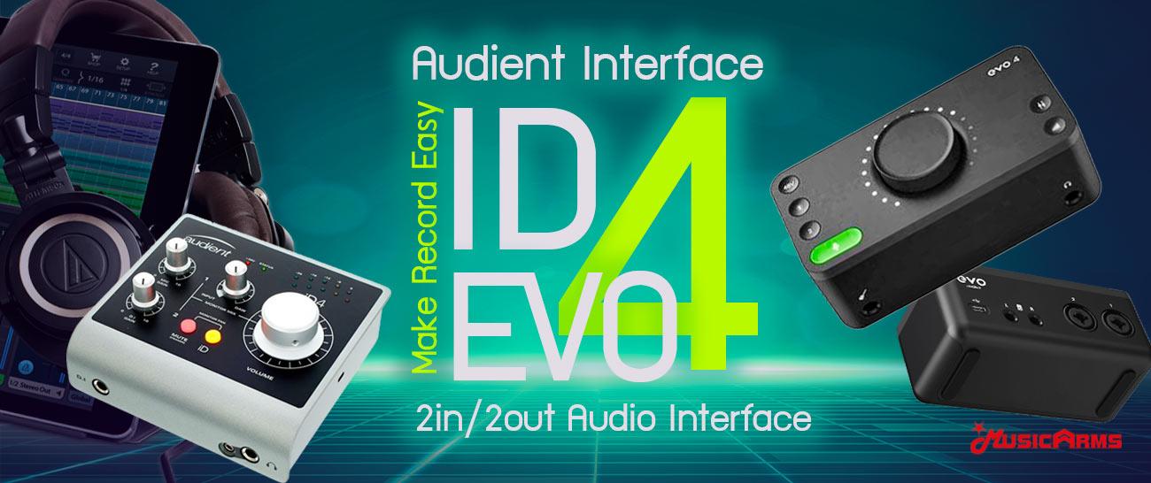ออดิโอ อินเตอร์เฟส Audient iD4 – 2in / 2out Audio Interface