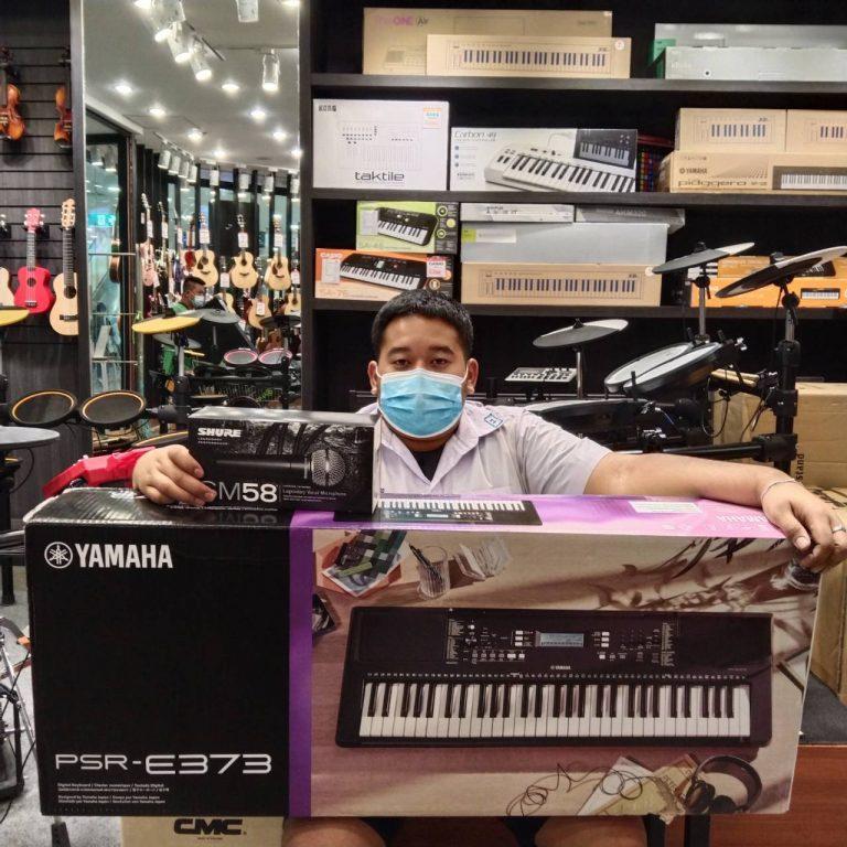 ลูกค้าที่ซื้อ คีย์บอร์ด Yamaha PSR-E373 ฟรีคู่มือภาษาไทย