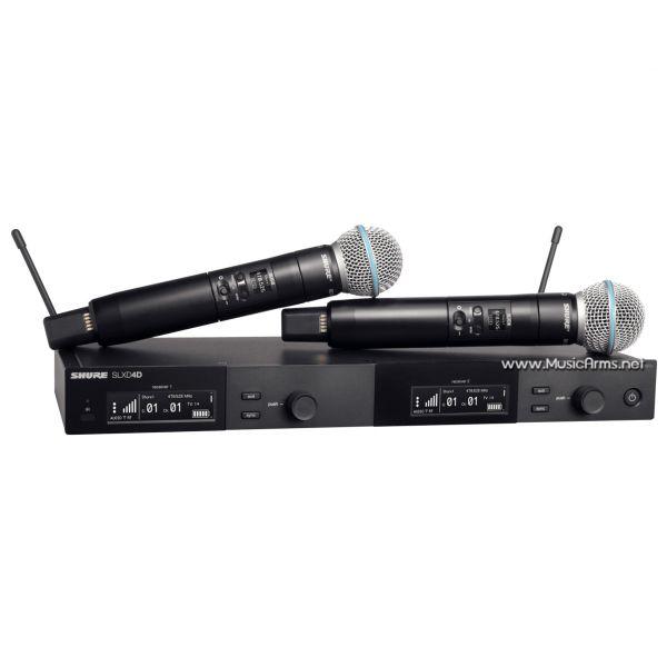 ไมโครโฟน SHURE SLXD24DA/SM58-M55 ไมโครโฟนไร้สายแบบไมค์คู่ คลื่นความถี่ 694-703 MHz และ 748-758 MHz ขายราคาพิเศษ