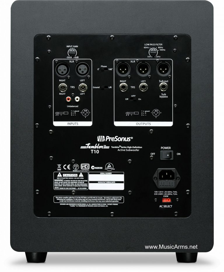 ลำโพงมอนิเตอร์ PreSonusTemblor T10-หลัง ขายราคาพิเศษ