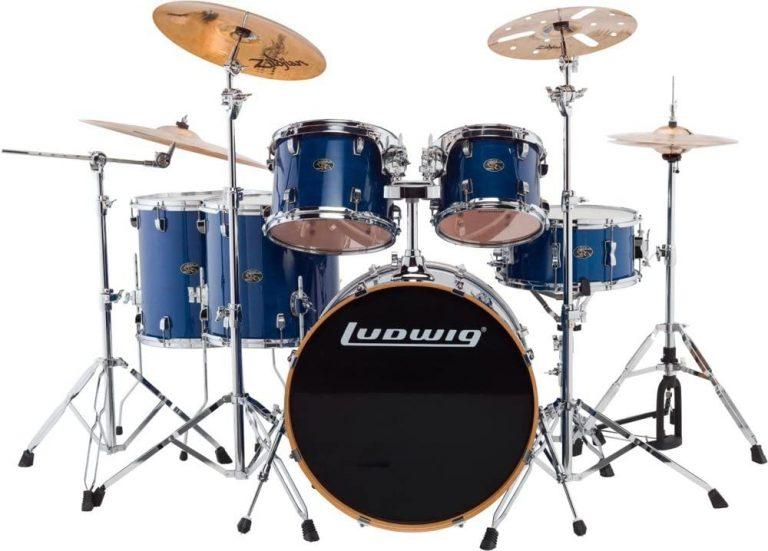 Ludwig Evolution Maple สี Transparent Blue ขายราคาพิเศษ