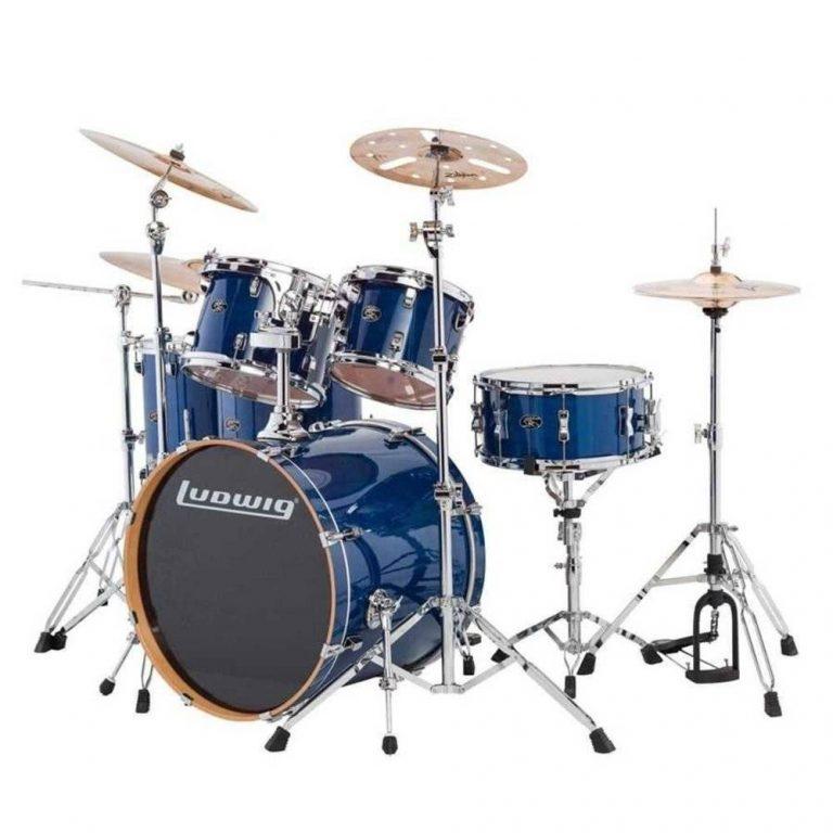 Ludwig Evolution Maple Transparent Blue ขายราคาพิเศษ