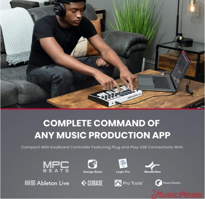 Akai-MPK-mini-white-connectivity ขายราคาพิเศษ