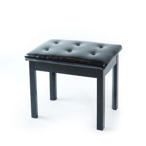 เก้าอี้เปียโนดำ